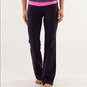 Lululemon Astro Pant Purple and Pink Band